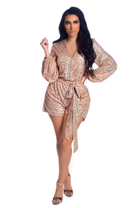24 Karat Gold Romper - Rose Gold