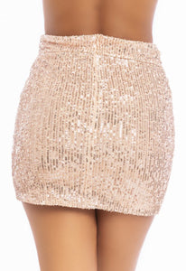All That Glitters Skirt - Rose Gold