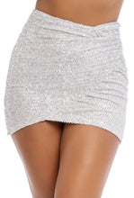 Load image into Gallery viewer, All That Glitters Skirt - Silver