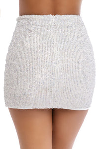 All That Glitters Skirt - Silver