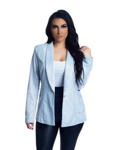 The Ashley Blazer - Silver