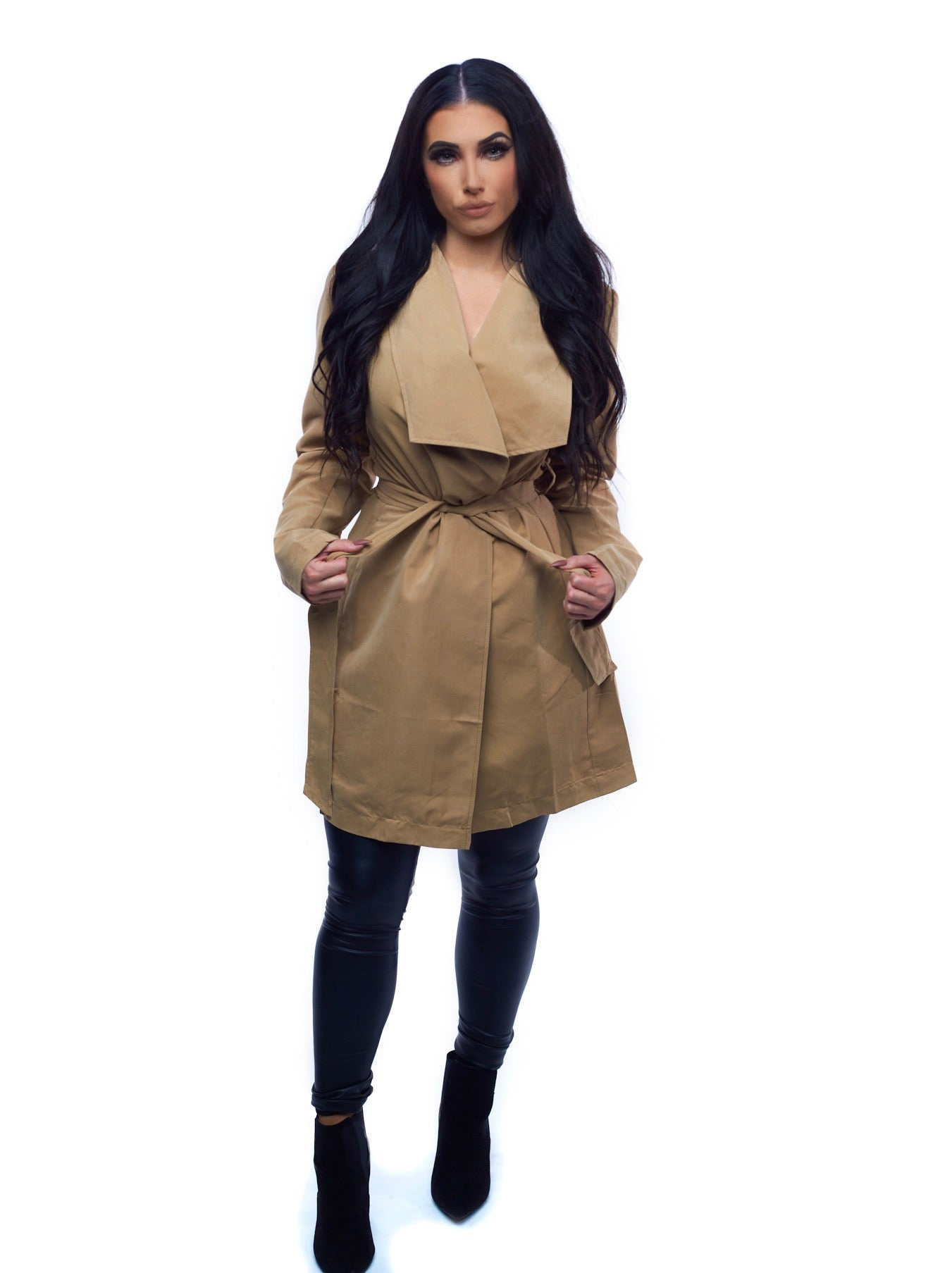 The Serena Trench Coat - Tan