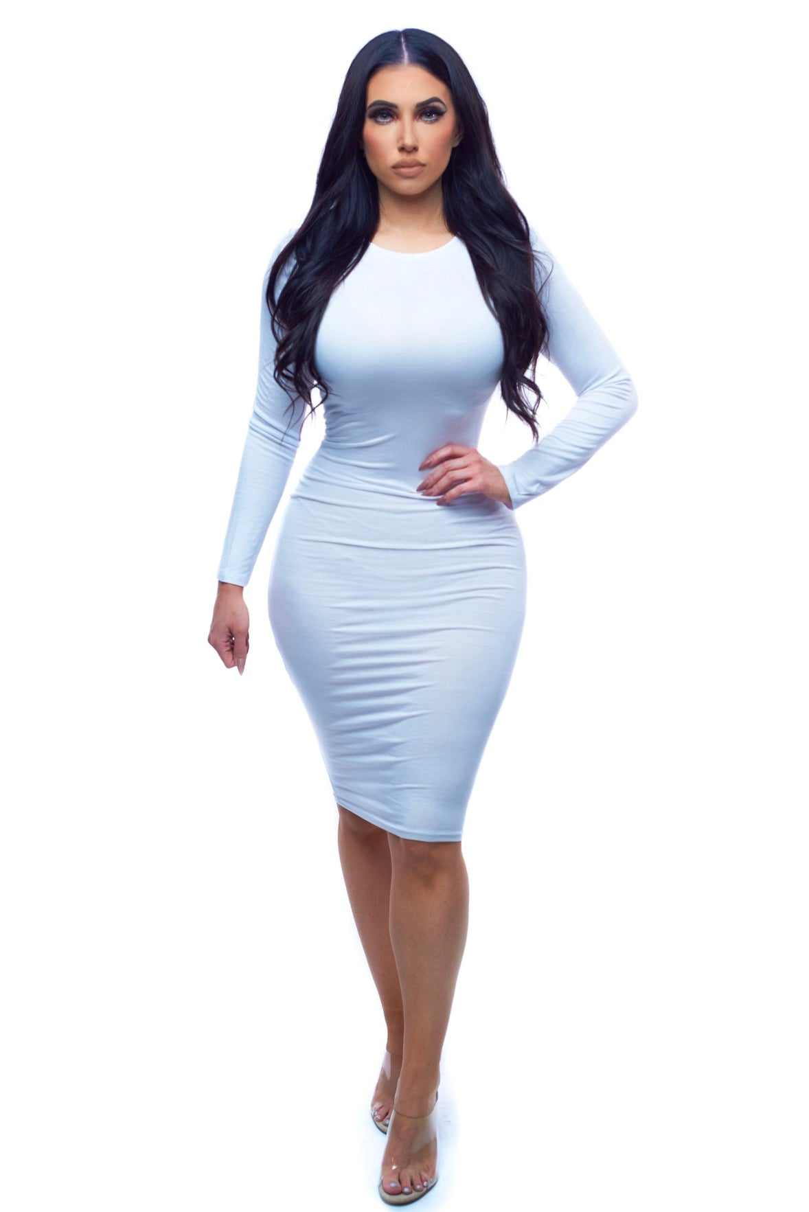 Sweater Weather Dress - White