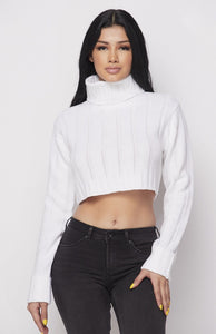 Fallin' For You Sweater - White