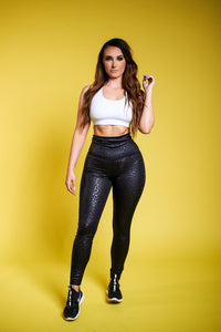 The Workout Queen Leggings - Black/Leopard
