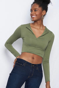 The Ryann Top - Olive