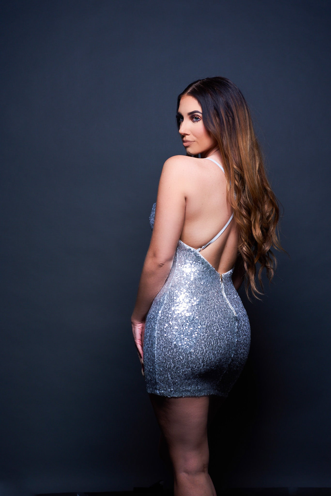 Center Of Attention Dress - Silver