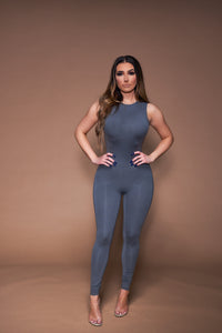 The Kendall Jumpsuit - Grey