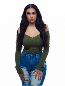 The Low Key Top - Olive Green
