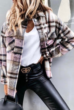 Load image into Gallery viewer, The Kristen Flannel - Pink/Brown Plaid