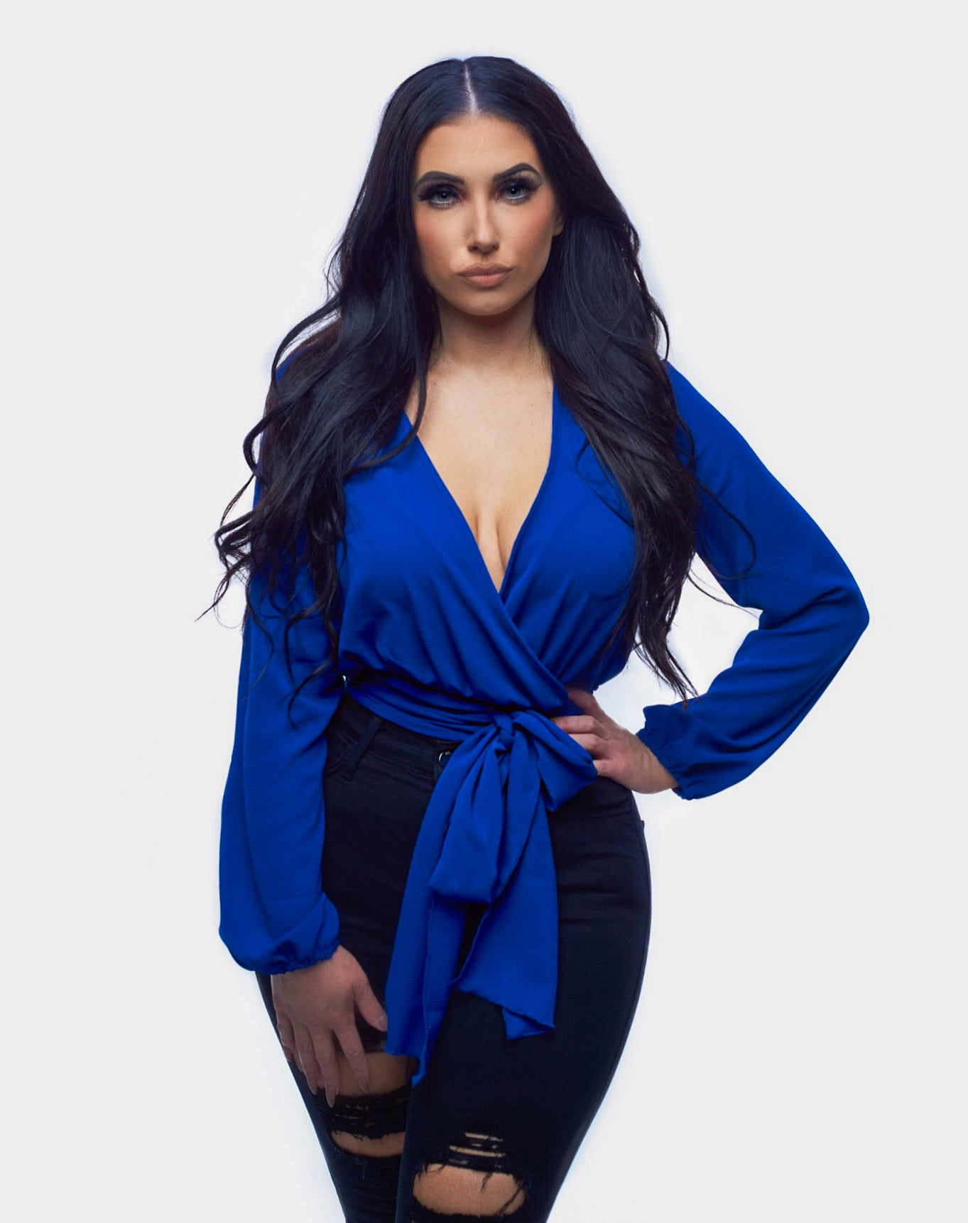 That's A Wrap Top - Royal Blue