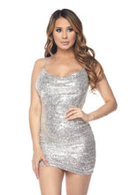 Load image into Gallery viewer, Center Of Attention Dress - Silver