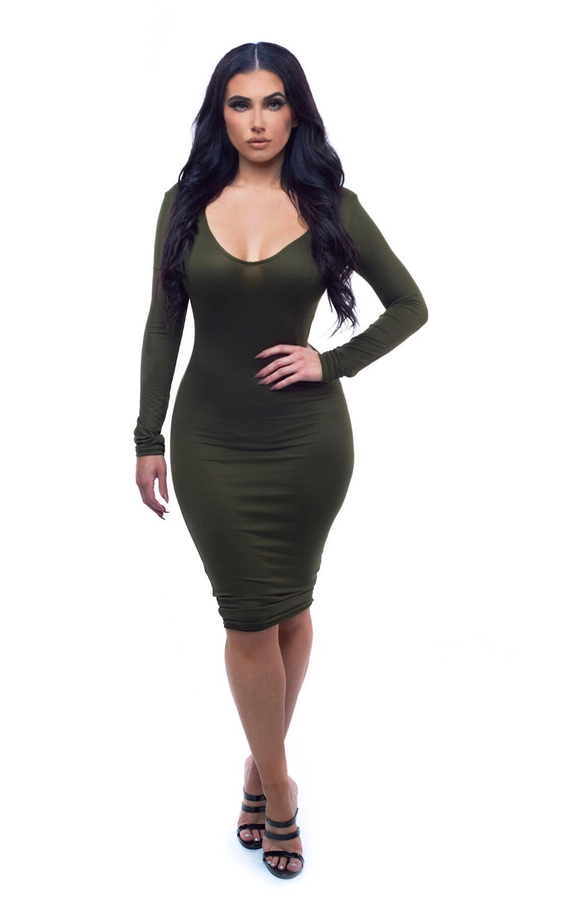 City Girl Dress - Olive