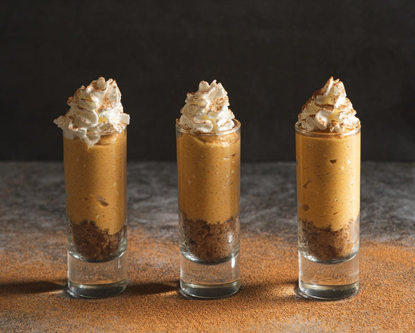 Pumpkin Parfait with Cinnamon Pecan Crust