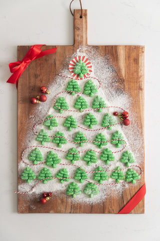 keto spritz green christmas tree cookies