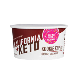Microwaveable Keto Birthday Cake Cookie Cup by Kalifornia Keto