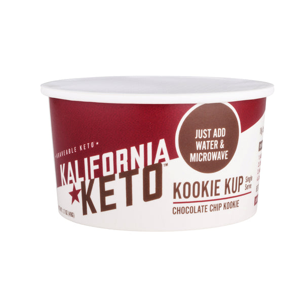 Microwaveable Keto Chocolate Chip Cookie Cup by Kalifornia Keto