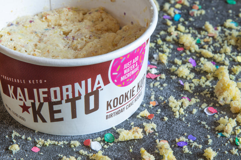 Keto Birthday Cake Cookie Celebration with Confetti and Sprinkles by Kalifornia Keto