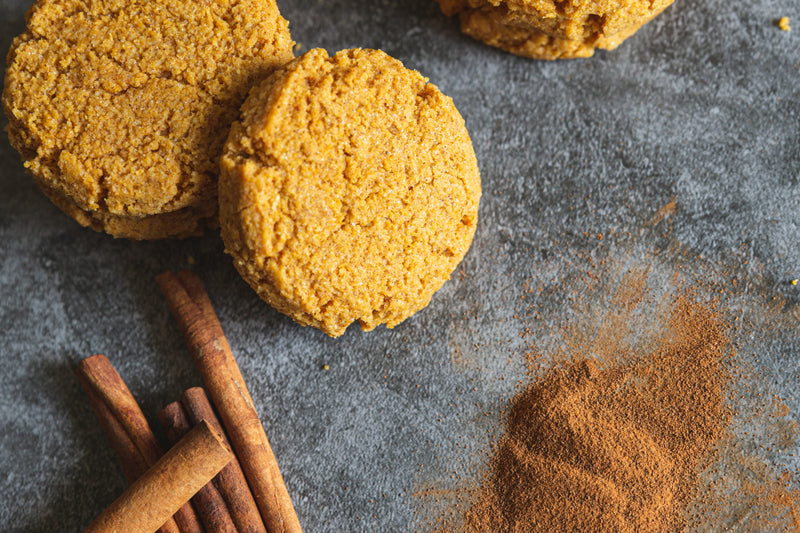 Pumpkin Spice Keto Cookies with Cinnamon Sticks and Spices