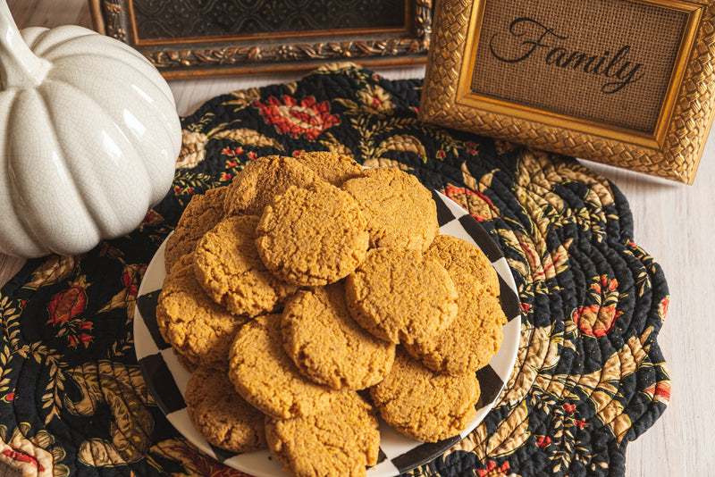 Pumpkin Spice Keto Cookies on Thanksgiving Platter Display