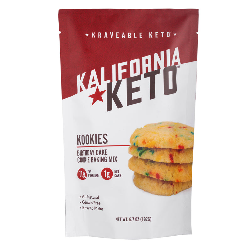 Keto Birthday Cake Cookie Baking Mix by Kalifornia Keto