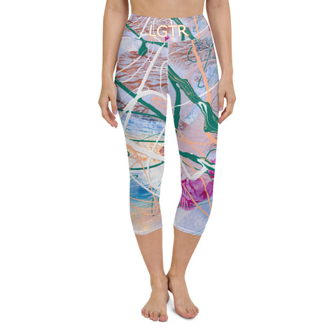 Colorful Comfortable LGTR by xLittleWEAR 2000 Yoga Capri Leggings | xLITTLEwear