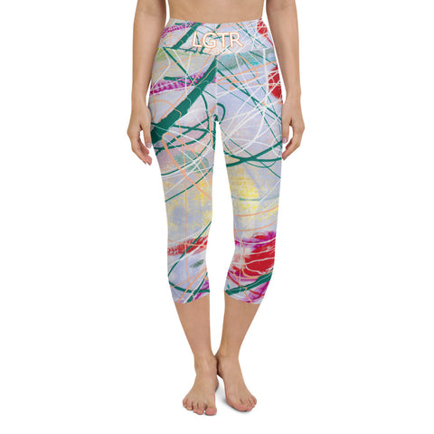 Colorful Comfortable LGTR by xLittleWEAR 1997 Yoga Capri Leggings | xLITTLEwear