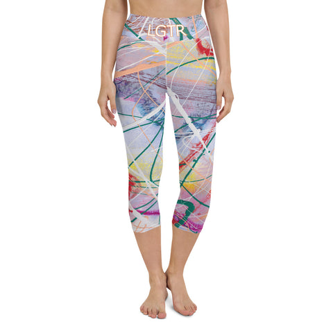 Colorful Comfortable LGTR by xLittleWEAR 2001 Yoga Capri Leggings | xLITTLEwear