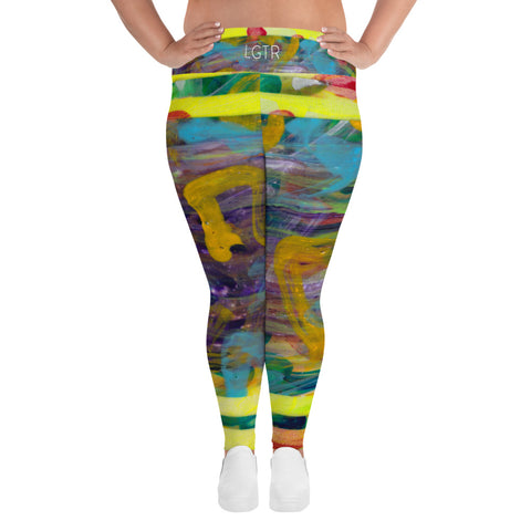 2058 | Women's Stretch Plus Size Classic Yoga Leggings | xLITTLEwear