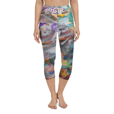 Colorful Comfortable LGTR by xLittleWEAR 2057 Yoga Capri Leggings | xLITTLEwear