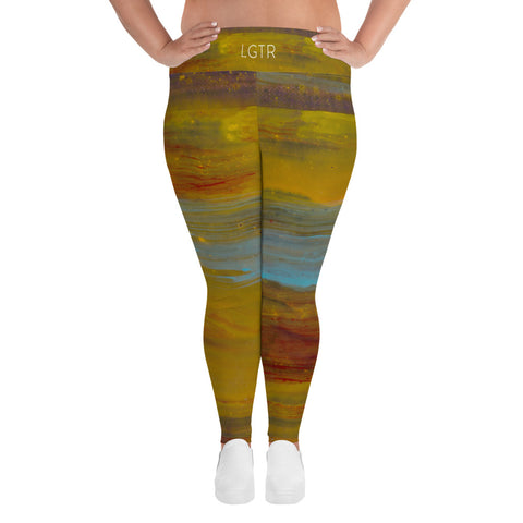 2048 | Women's Stretch Plus Size Classic Yoga Leggings | xLITTLEwear