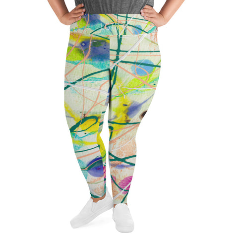 2007 | Women's Stretch Plus Size Classic Yoga Leggings | xLITTLEwear