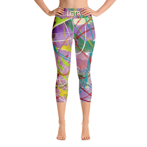 Colorful Comfortable LGTR by xLittleWEAR 1823 Yoga Capri Leggings | xLITTLEwear