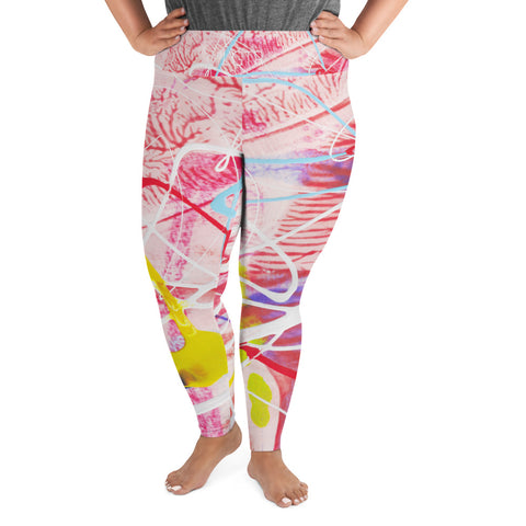 1859L | Women's Stretch Plus Size Classic Yoga Leggings All-Over Print Plus Size Leggings