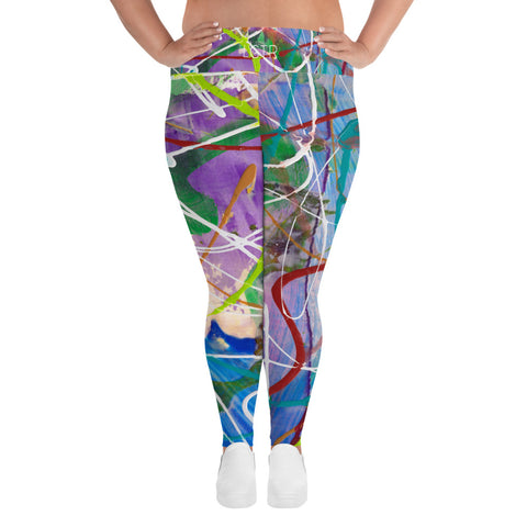 1822 Comfortable LTGR by xLITTLEwear Womens Stretch Plus Size Classic Yoga Leggings | xLITTLEwear