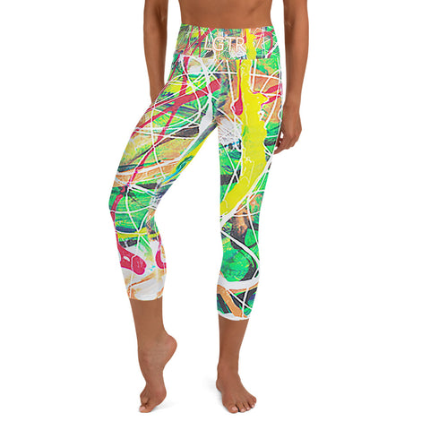 Colorful Comfortable LGTR by xLittleWEAR 1884L Yoga Capri Leggings | xLITTLEwear