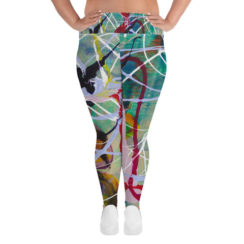 1835 | Women's Stretch Plus Size Classic Yoga Leggings