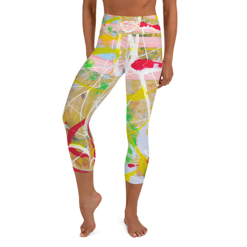 Colorful Comfortable LGTR by xLittleWEAR 1799L Yoga Capri Leggings | xLITTLEwear