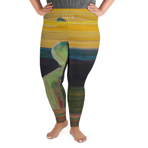 2047 | Women's Stretch Plus Size Classic Yoga Leggings | xLITTLEwear