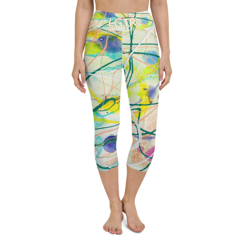 Colorful Comfortable LGTR by xLittleWEAR 2007 Yoga Capri Leggings | xLITTLEwear