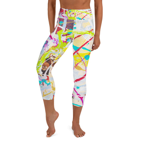 Colorful Comfortable LGTR by xLittleWEAR 1842L Yog Capri Leggings | xLITTLEwear