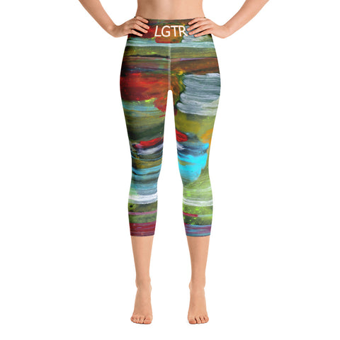 Colorful Comfortable LGTR by xLittleWEAR 2049 Yoga Capri Leggings | xLITTLEwear