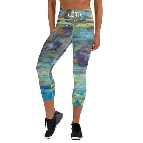 Colorful Comfortable LGTR by xLittleWEAR 2056 Yoga Capri Leggings | xLITTLEwear