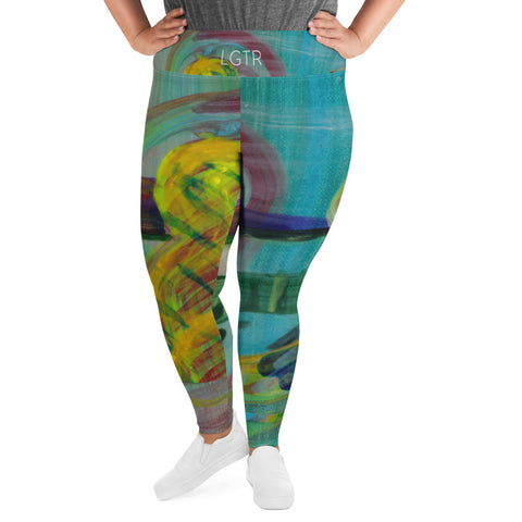 2059 | Women's Stretch Plus Size Classic Yoga Leggings | xLITTLEwear