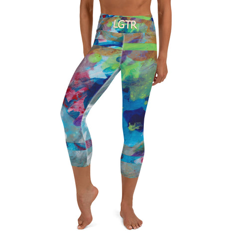 Colorful Comfortable LGTR by xLittleWEAR 2055 Yoga Capri Leggings | xLITTLEwear