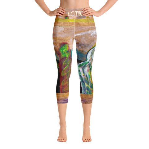 Colorful Comfortable LGTR by xLittleWEAR 2054 Yoga Capri Leggings | xLITTLEwear