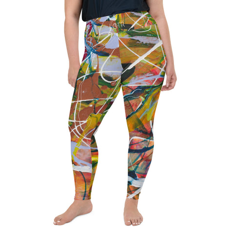 1890 | Women's Stretch Plus Size Classic Yoga Leggings | xLITTLEwear