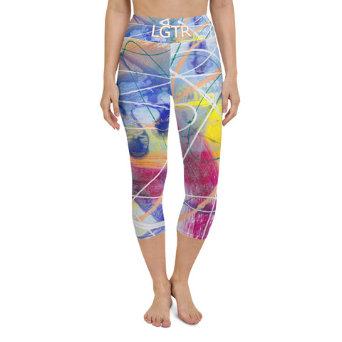 Colorful Comfortable LGTR by xLittleWEAR 1987 Yoga Capri Leggings | xLITTLEwear