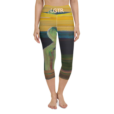 Colorful Comfortable LGTR by xLittleWEAR 2047 Yoga Capri Leggings | xLITTLEwear