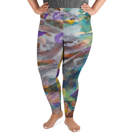 2057 | Women's Stretch Plus Size Classic Yoga Leggings | xLITTLEwear